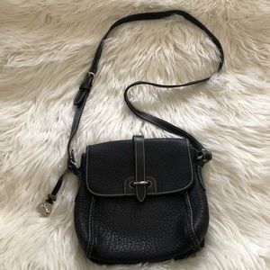 Dooney & Bourke Black East West Flap Crossbody Bag